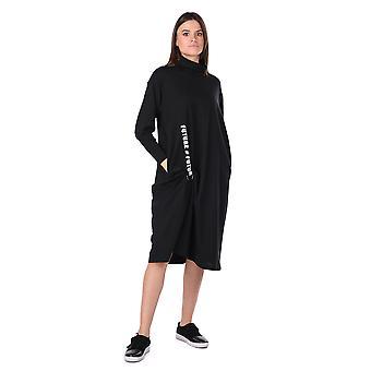 turtleneck svart kvinners svette kjole