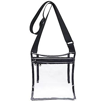 Clear Crossbody Purse Bag, Stadium Approved, With Extra Inside Pocket