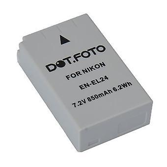 Dot.Foto Nikon EN-EL24 wymiana baterii - 7, 2V / 850mAh
