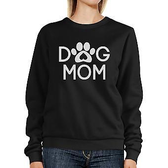 Cane mamma Felpa Unisex nero carino cane zampa regali per i proprietari di cani