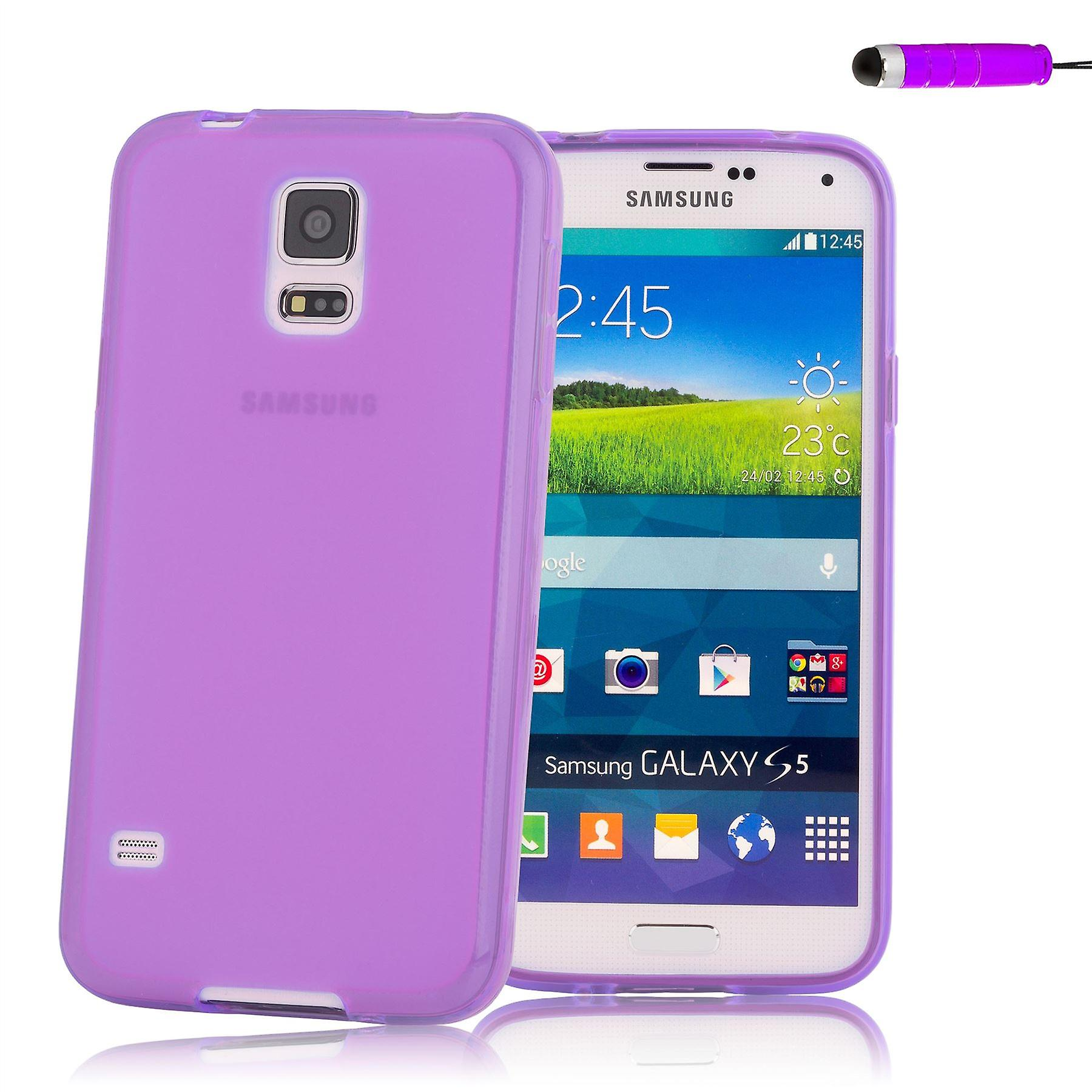 Crystal Gel case cover for Samsung Galaxy S5 Mini (SM-G800) - Purple