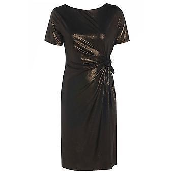 Sexiga kvinnors metalliska Slinky sida Bow Dress DR594-8
