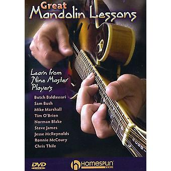 Great Mandolin Lessons-Learn From Nine Master Play [DVD] USA import