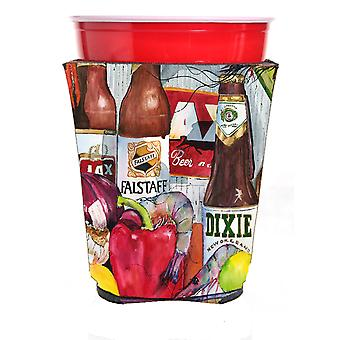 New Orleans Beers and Spices Red Solo Cup Beverage Insulator Hugger 1017