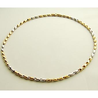 Bicolor gold Christian necklace