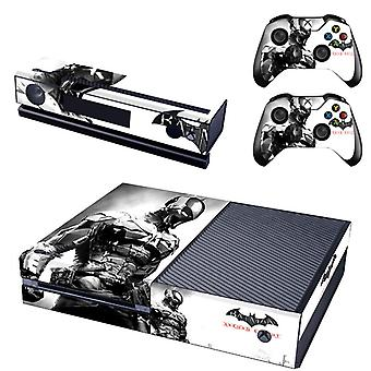 REYTID Console Skin / Sticker + 2 x Controller Decals & Kinect Wrap Compatible with Microsoft Xbox One - Full Set - Batman Arkham