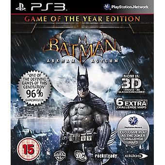 Batman  Arkham Asylum - Game of the Year (PS3) - New
