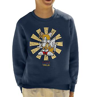 Sonic The Hedgehog Tails Retro Japanese Kid's Sweatshirt