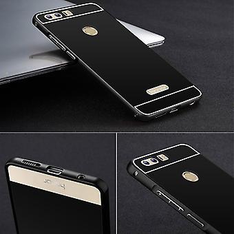Aluminiowe zderzak 2 kawałki z pokrywą czarny dla Huawei honor 8 torba rękawa sprawie