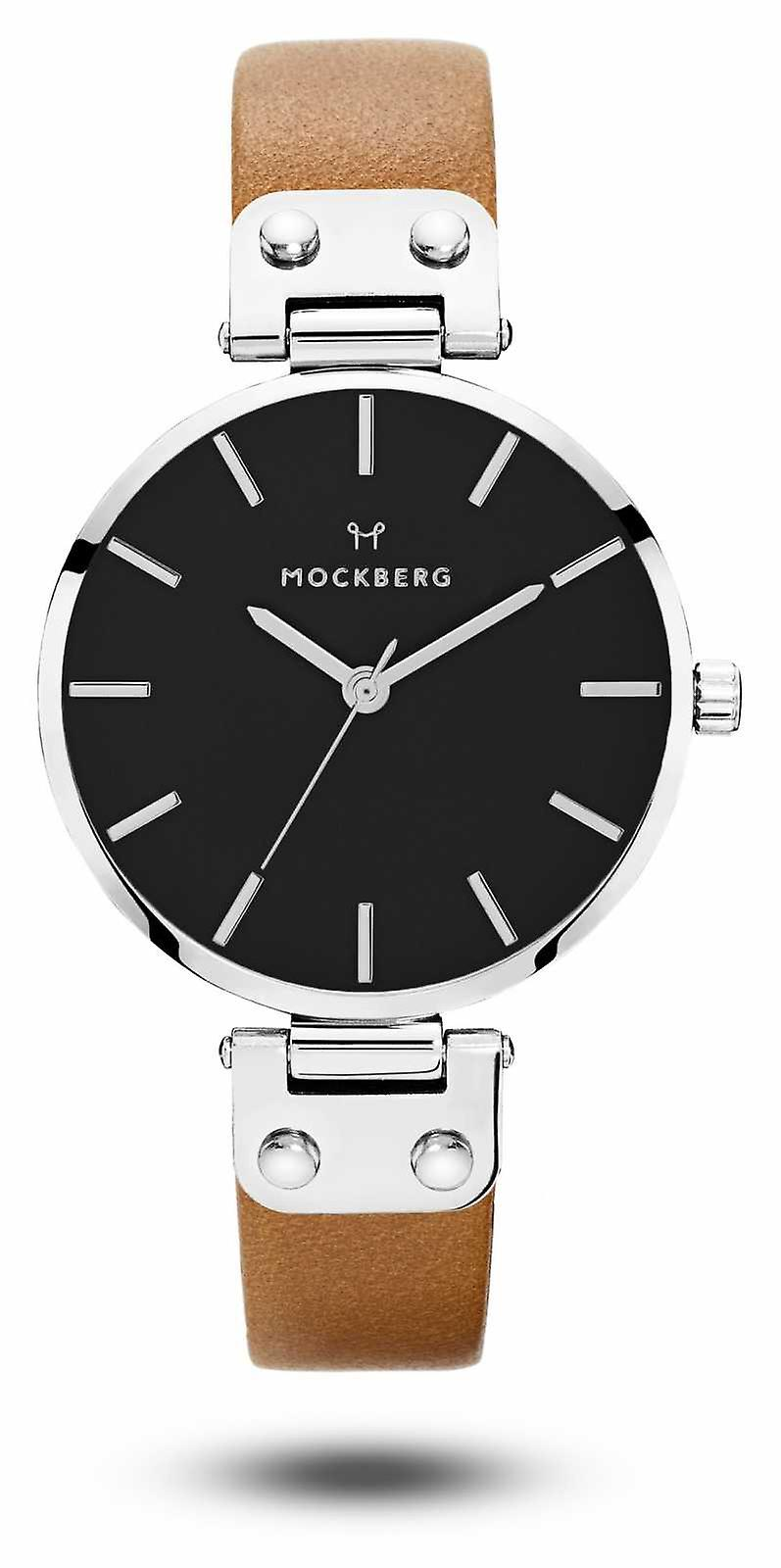 Mockberg Women's Wera Black Brown Strap Black Dial MO112 Watch
