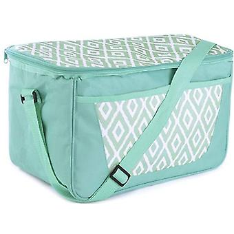Large Green Family 26 Can 18 Litre Picnic - Cool Bag With Shoulder Strap