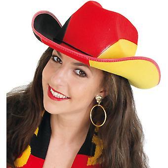 Cowboy hat fan Tyskland Tyskland sort rød guld
