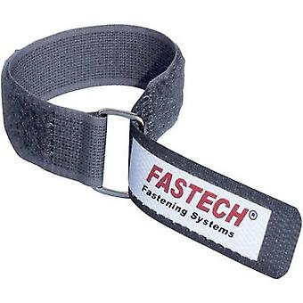 Fastech F101-20-220M-FT Hook-and-loop tape with strap Hook and loop pad (L x W) 220 mm x 20 mm Grey 1 pc(s)