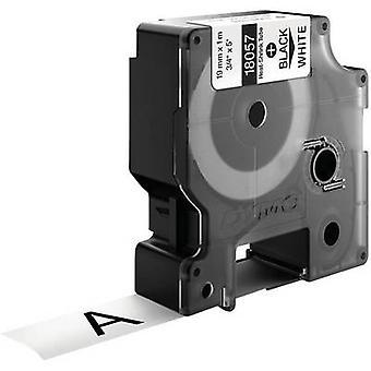 Krympslang etikett DYMO IND RHINO 18057 Polyolefin Tape färg: vit teckensnitt färg: svart 19 mm 1.5 m