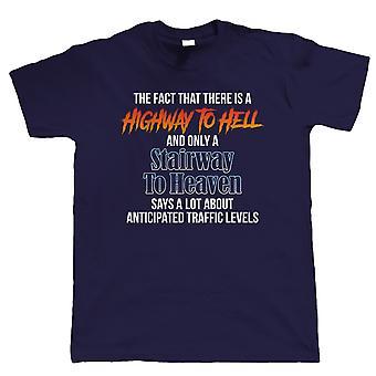 Valtatie taivaaseen, Mens Funny T-paita-portaikkoon helvettiin auto musiikki lahja hänelle isä