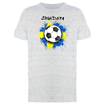 Pallone da calcio sulla bandiera Svezia Tee uomo-immagine di Shutterstock