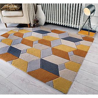 Unendliche Umfang Ocker-Rechteck Teppiche Funky Teppiche