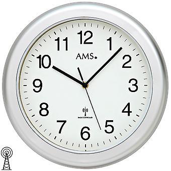浴室时钟挂钟挂钟收音机银色防水浴室时钟