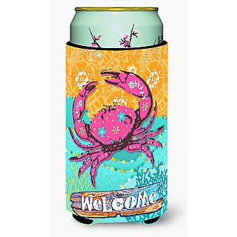 سرطان البحر الوردي الساحلية صبي طويل القامة المشروبات عازل نعالها