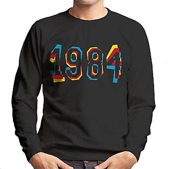 Buch Cover 1984 Herren Sweatshirt muss gelesen werden.