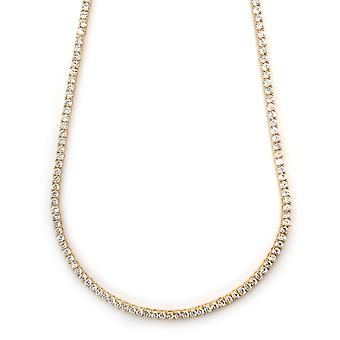 Faraónovy náhrdelník 18K Zlatokopovaný CZ kulatý řez 4 mm