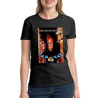 T-shirt noir le cinquième élément Movie Poster des femmes