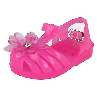 Infant/Baby Girls Spot On Jelly Sandals H2333