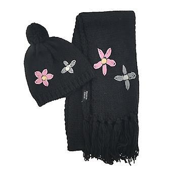 Mössa Halsduk Blomma - Flera färger
