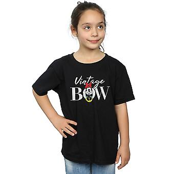 Disney Girls Minnie myš Vintage luk T-shirt