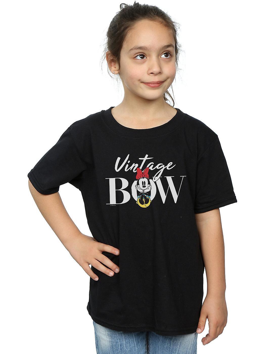 Disney Girls Minnie Mouse Vintage Bow T-Shirt