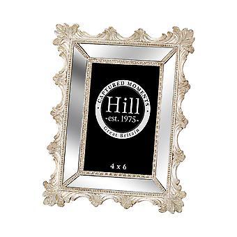 Hill interiörer fasade speglade Fleur De Lis utsmyckade fotoram