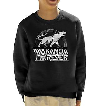 Marvel Black Panther Wakanda Forever Roaring Cat Kid's Sweatshirt