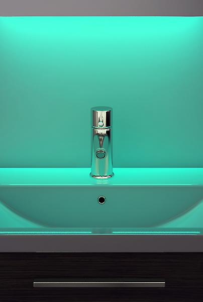 Digital Clock Shaver Mirror with Under Lighting, Demist & Sensor k187w