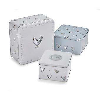 Cooksmart Set of 3 Farmers Kitchen Square Cake Tins