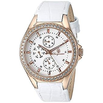 Burgmeister-wrist watch, White leather band
