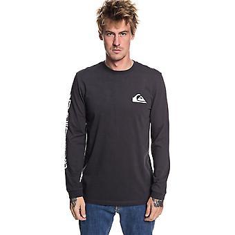 Quiksilver Original Quik Collage Long Sleeve T-Shirt in Tarmac
