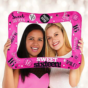 Anagram 23 Inch Sweet 16 Inflatable Photo Frame Foil Balloon