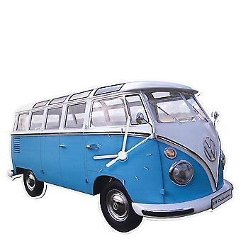Virallinen VW Camper Van Tummapapurikko kello - sininen