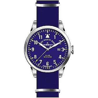 Zeno-watch mens watch Navigator NATO quartz, blue 5231Q-a4