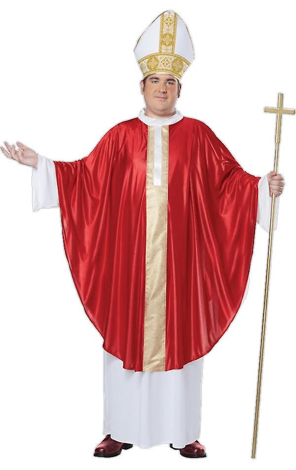 Mens The Pope Plus Size Religious Fancy Dress Costume
