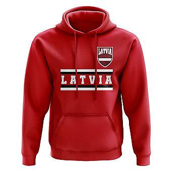 Latvia Core Football Country Hoody (rød)