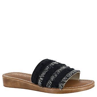 Bella Vita Womens Abi Italy Fabric Open Toe Casual Slide Sandalen