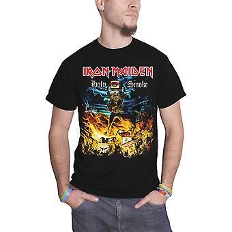 Iron Maiden T Shirt Holy Smoke Cover Band Logo Official Mens New Black