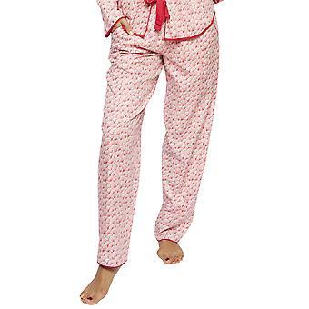Cyberjammies 4207 kvinders Evie Red mix fan print bomuld pyjamas pant
