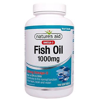 Natur ' s Aid fisk olja 1000mg (Omega-3) softgels 180 (17360)