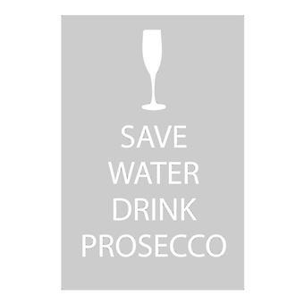 Mentés víz ital Prosecco szürke tea törölköző