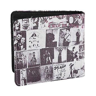 The Rolling Stones Wallet Exile on Main Street Band Logo Official Black Bifold