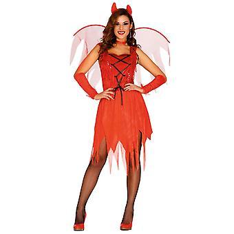 Donne Adulti Diavolo Donna Halloween Abito Fantasia Costume