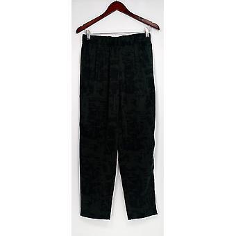 H door Halston vrouwen ' s broek etch print geweven zwart A272371