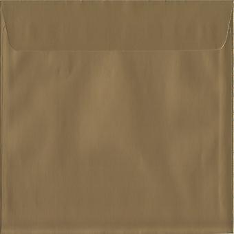 Metallischen Schale/Goldsiegel 220mm quadratische farbige Gold Umschläge. 130gsm Luxus FSC zertifiziertes Papier. 220 mm x 220 mm. Wallet-Stil-Umschlag.